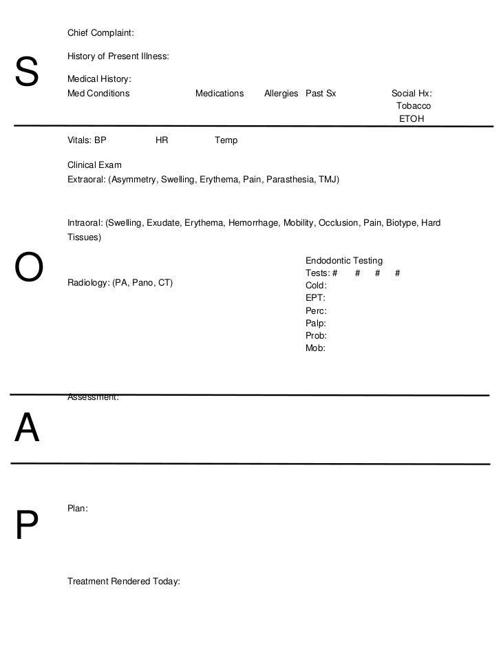 Sample SOAP Note