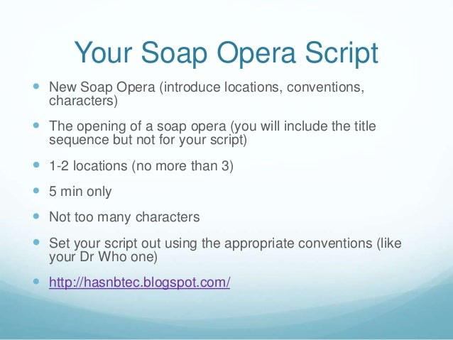 Soap-Opera Writing (and How to Avoid It)