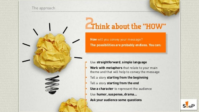 SOAP's 11-Step Guide to Awesome Presentation Content Slide 3
