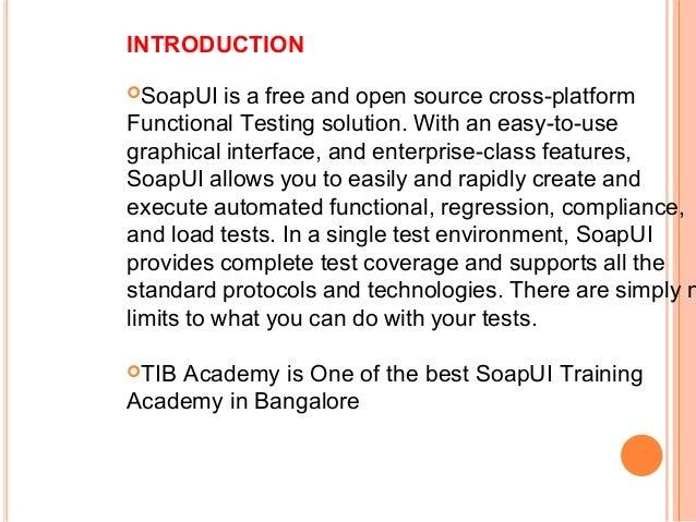 SoapUI Training Tutorial in bangalore