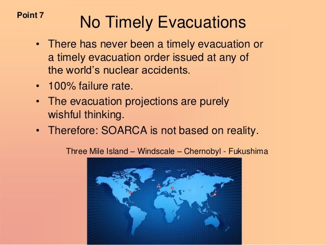 """No Timely Evacuations • There has never been a timely evacuation or a timely evacuation order issued at any of the world""""s..."""