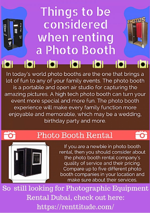 So are you still looking for photographic equipment rental dubai