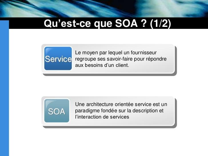 Soa services web for Architecture orientee service