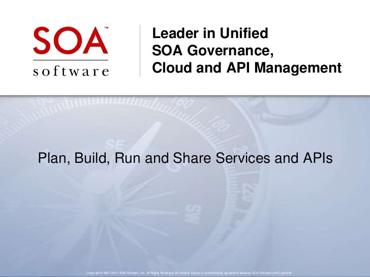 Leader in Unified                                                    SOA Governance,                                      ...