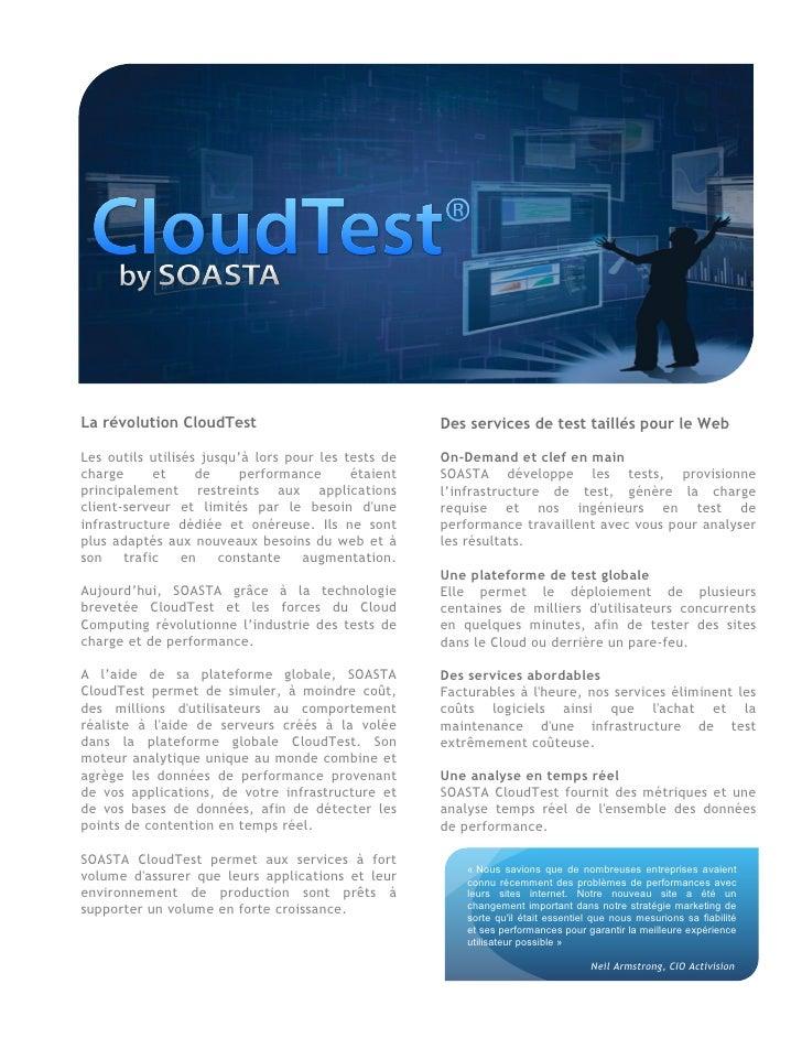 Présentation des services SOASTA CloudTest On-Demand