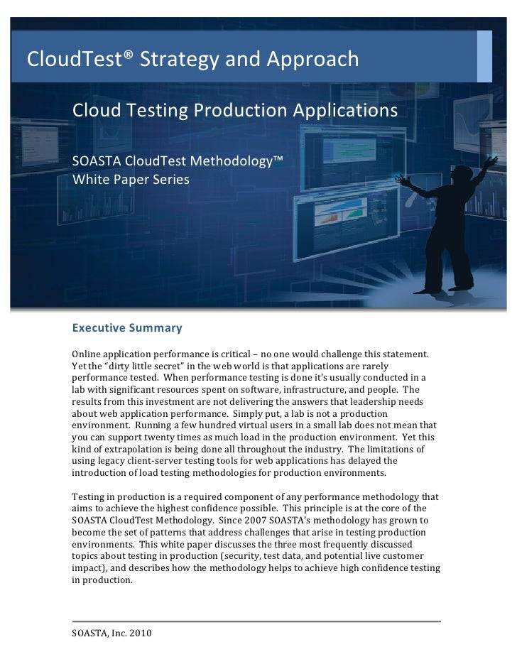 CloudTest® Strategy and Approach                                                      Cloud Testing Prod...