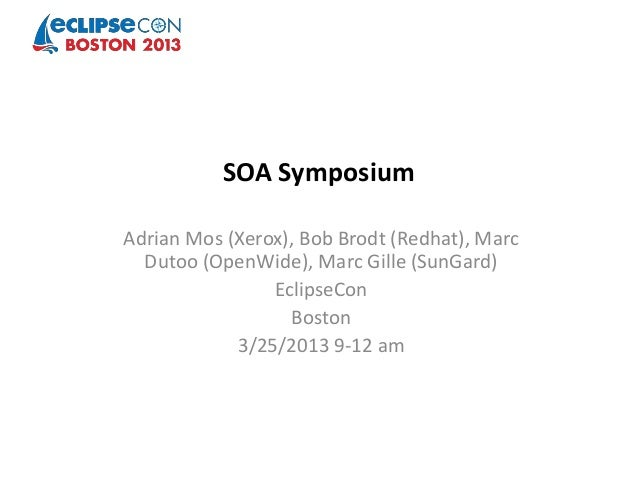 Soa symposium eclipse con 2013