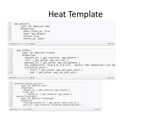 Template Languages for OpenStack - Heat and TOSCA
