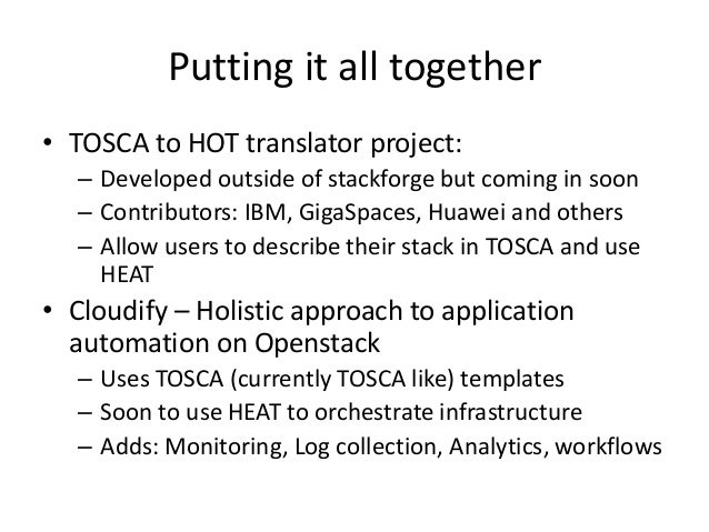 Template languages for openstack heat and tosca malvernweather Images