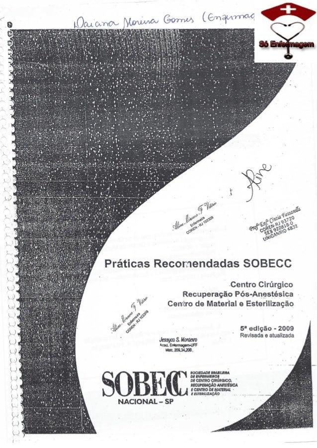 SOBECC- Enfermagem em Centro Cirúrgico e Centro de Material e Esterilização