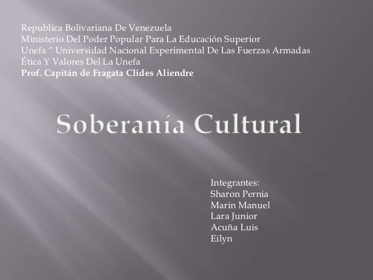 """Republica Bolivariana De VenezuelaMinisterio Del Poder Popular Para La Educación SuperiorUnefa """" Universidad Nacional Expe..."""