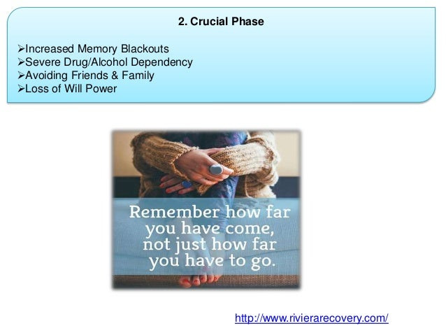 2. Crucial Phase Increased Memory Blackouts Severe Drug/Alcohol Dependency Avoiding Friends & Family Loss of Will Powe...