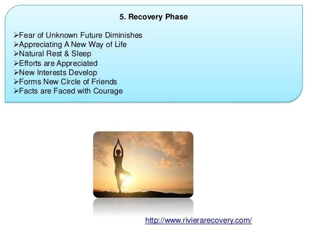 5. Recovery Phase Fear of Unknown Future Diminishes Appreciating A New Way of Life Natural Rest & Sleep Efforts are Ap...
