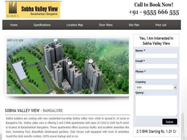 About Project:- Sobha Valley View a new township which is spread in 14 acres in Bangalore City. Sobha Valley View is offer...