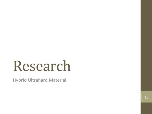 Research$ Hybrid&Ultrahard&Material& 16&