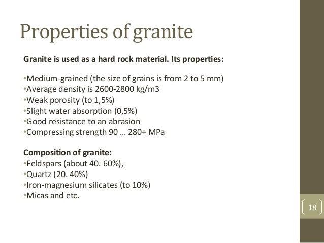 Physical Properties Of Granite Rock