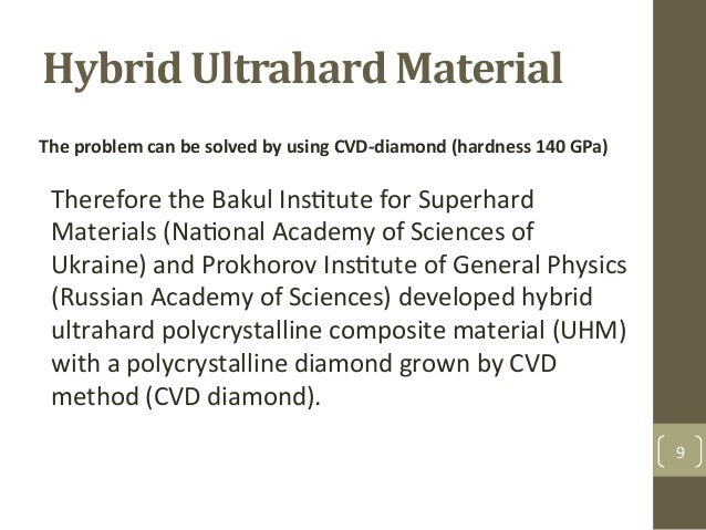 Hybrid+Ultrahard+Material$ Therefore&the&Bakul&InsAtute&for&Superhard& Materials&(NaAonal&Academy&of&Sciences&of& Ukraine)...