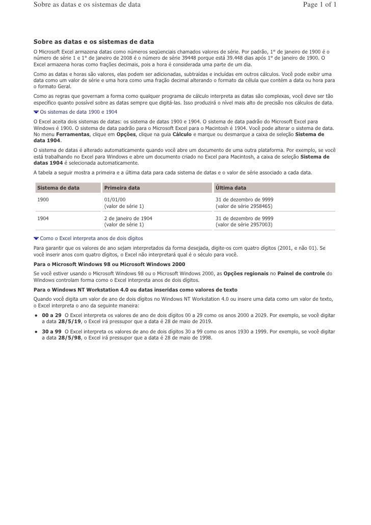 Sobre as datas e os sistemas de data                                                                         Page 1 of 1  ...