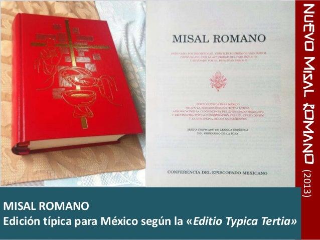 Resultado de imagen para cambios misal romano 2017