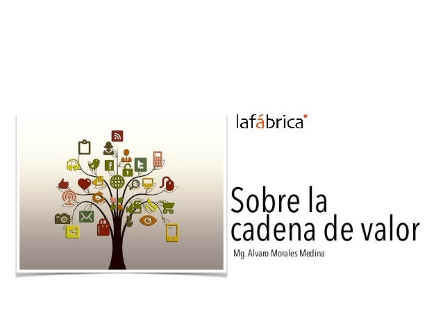 Sobre la cadena de valorMg.Alvaro Morales Medina