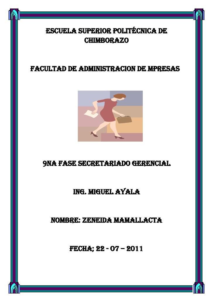 ESCUELA SUPERIOR POLITÉCNICA DE CHIMBORAZO<br />FACULTAD DE ADMINISTRACION DE MPRESAS<br />1682115300355<br />9NA FASE sec...