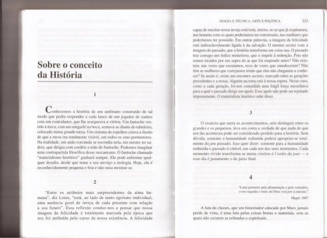 Sobre o conceito da história