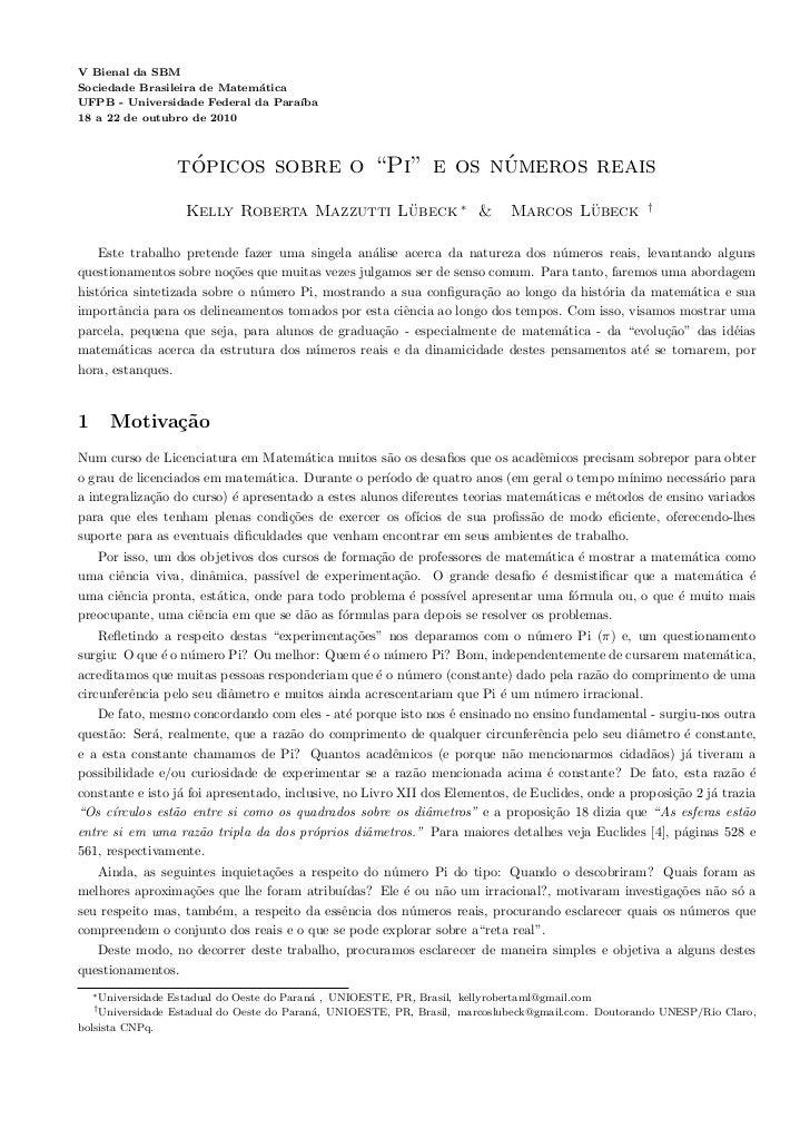 V Bienal da SBMSociedade Brasileira de Matem´tica                             aUFPB - Universidade Federal da Para´       ...