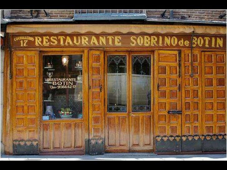 Sobrino de bot n restaurante en funcionamiento m s antiguo for Casa botin madrid