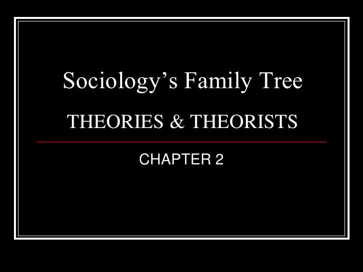 Sociology's Family TreeTHEORIES & THEORISTS       CHAPTER 2