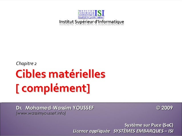Chapitre 2Dr. Mohamed-Wassim YOUSSEF                                     © 2009[www.wassimyoussef.info]                   ...