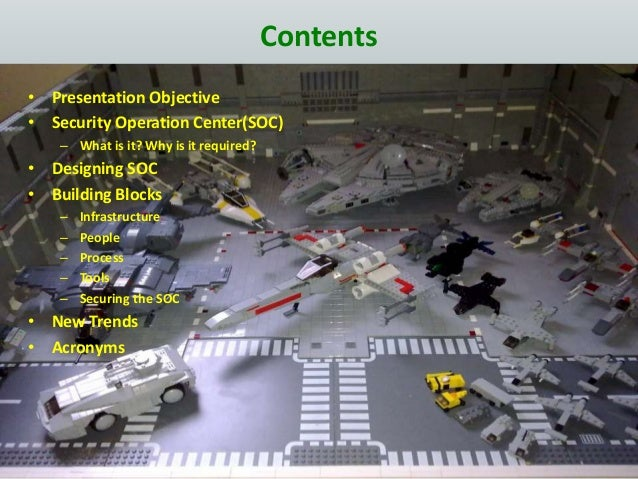 Contents • Presentation Objective • Security Operation Center(SOC) – What is it? Why is it required? • Designing SOC • Bui...
