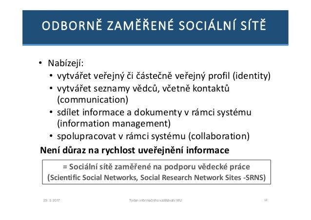 Vytváření sociálních sítí