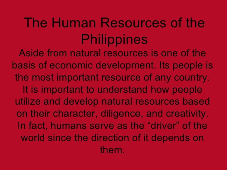 importance of human resources in economic development