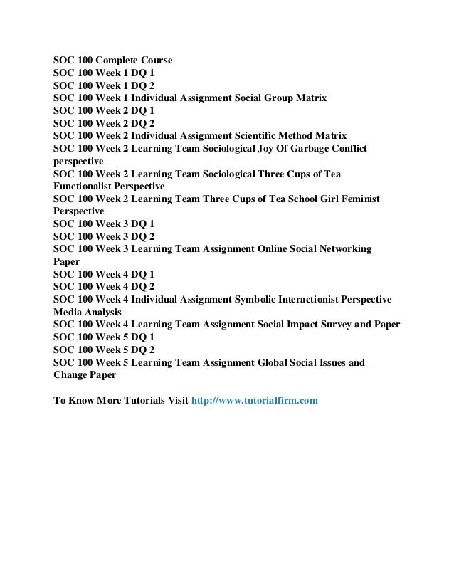 soc 100 Course listings the following course are offered by the social science department prerequisite: soc 100 3 crs, 3 hrs soc 230 ethnic groups in american life.