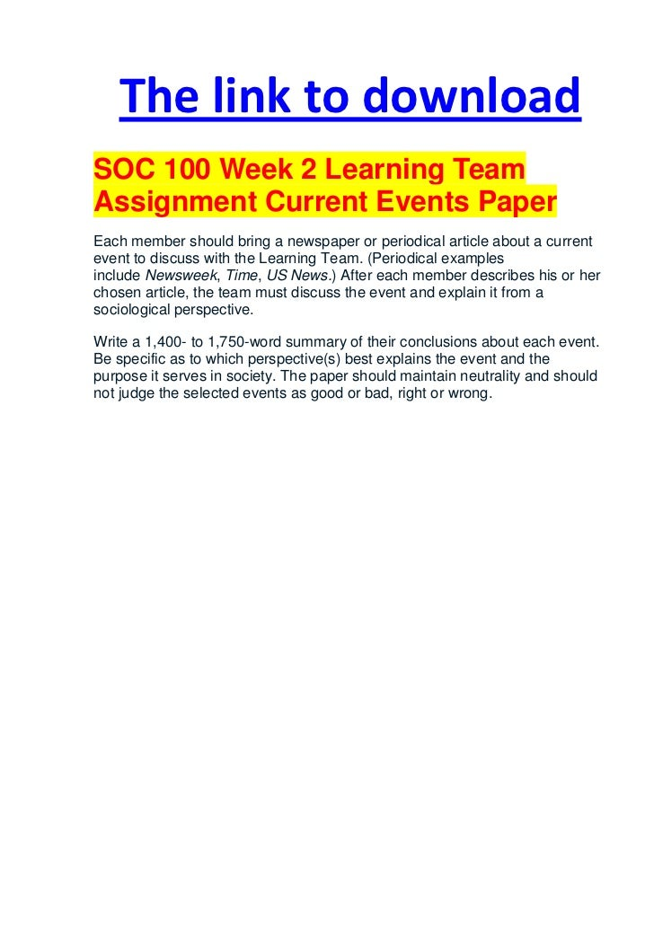 soc 100 week 9 assignment 2 Soc 100 week 1 discussion 2  soc 100 week 1 discussion 1 soc 100 quiz 2 chapter 2 and 3  hsa 535 assignment 2 cis 534 week 9 discussion 2.