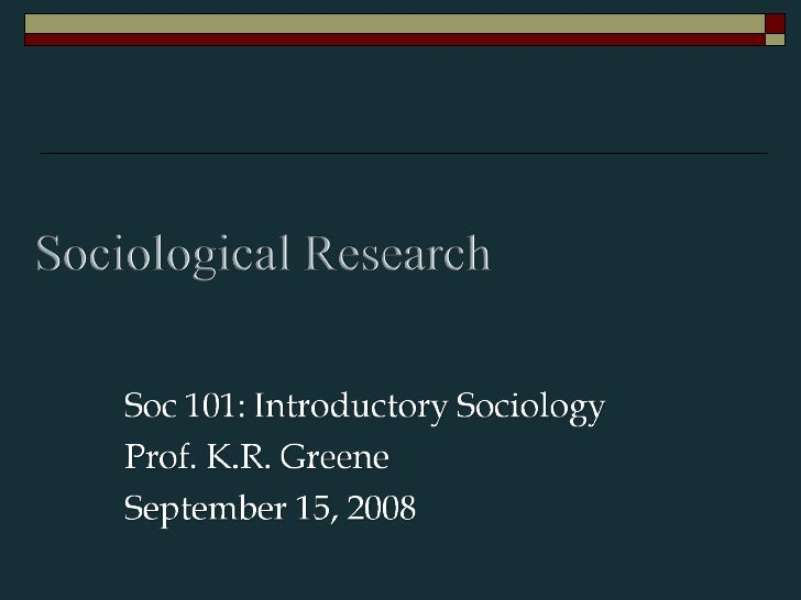 SOC101: Introduction to Sociology