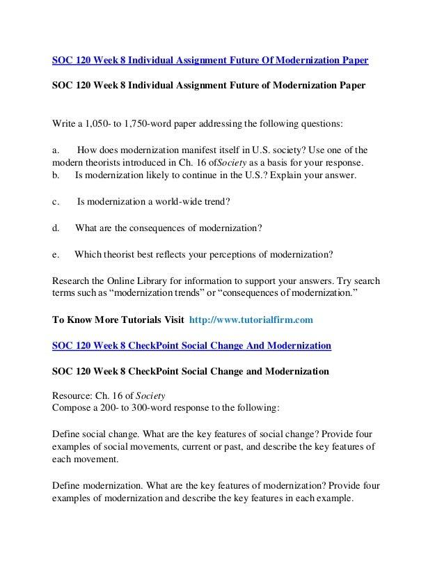 SOC 120 Week 5 Final Paper (New)