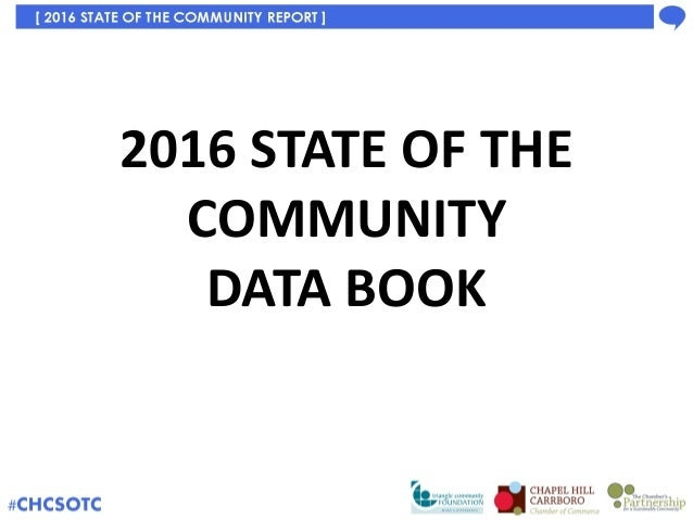 2016 State of the Community Report Data Book Slide 1