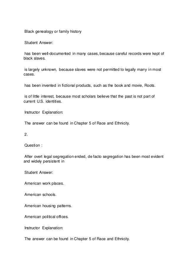 SOC 308 Week 2 Quiz Answers 2015 version Slide 2