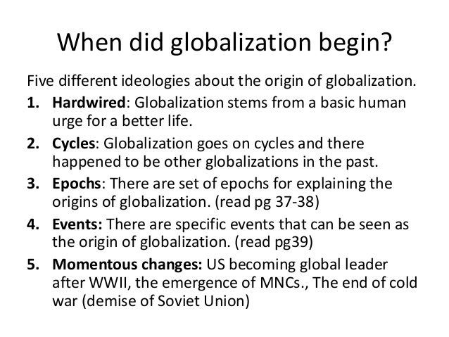 The different changes in world politics that happened after the cold war