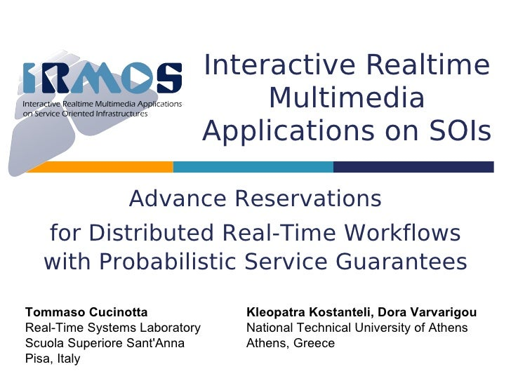 Interactive Realtime                                     Multimedia                                Applications on SOIs   ...