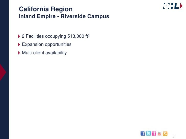 OHL's Available Distribution Space in Southern Ca Slide 2