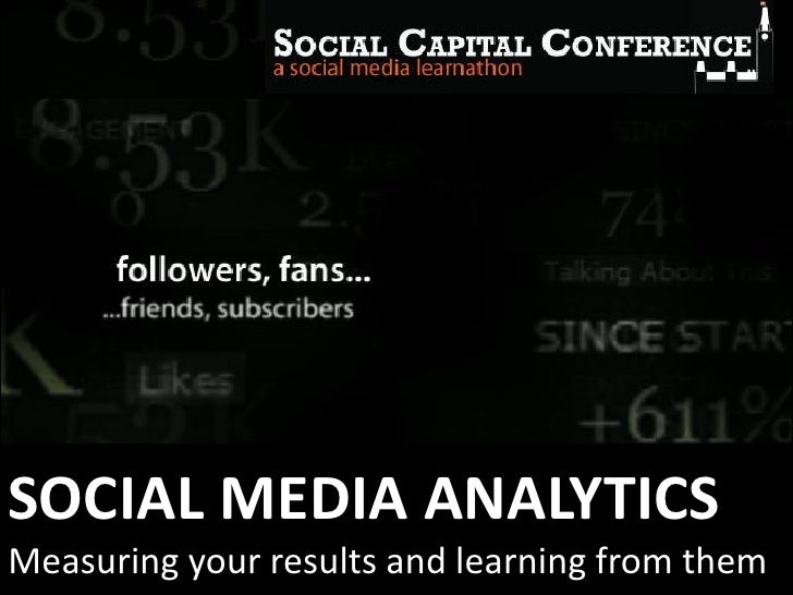SOCIAL MEDIA ANALYTICSMeasuring your results and learning from them