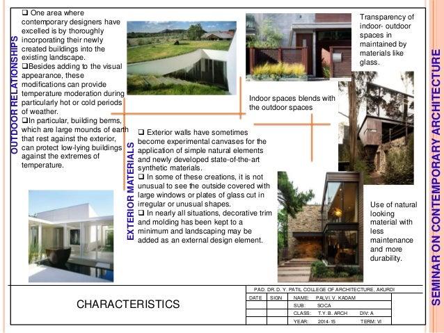 Modern Architecture Characteristics