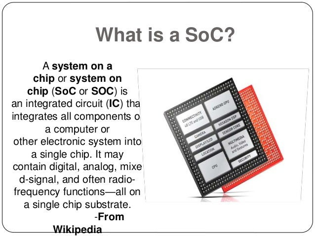 SoC based smartphone processors