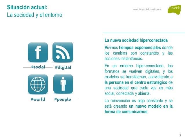 SocBiz Talk: Redes sociales corporativas, claves en las organizaciones del futuro. Dioni Nespral (everis) Slide 3