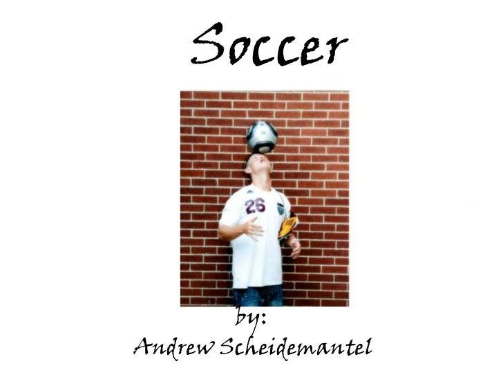 Soccer        by:Andrew Scheidemantel