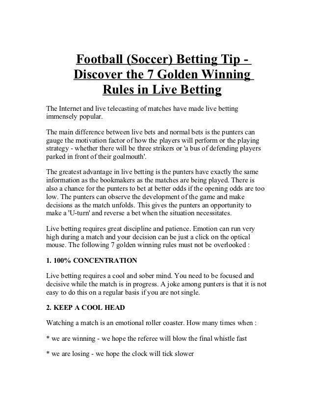 Betting rules free binary options signals providers plus