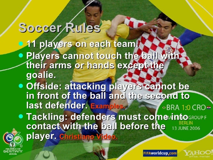 soccer essay rules Essay-in soccer, there are many rules that govern the spectators, the referees, the players, team it is worth noting, since time in memorial, the rules of soccer have always been changed to make it.