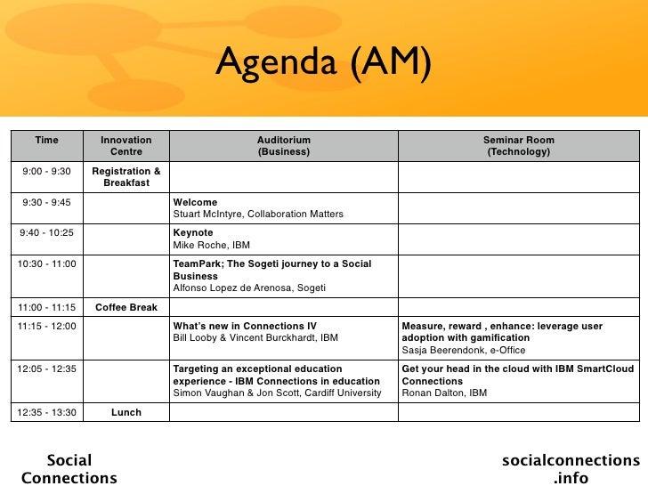 Agenda (AM)   Time          Innovation                        Auditorium                                    Seminar Room  ...
